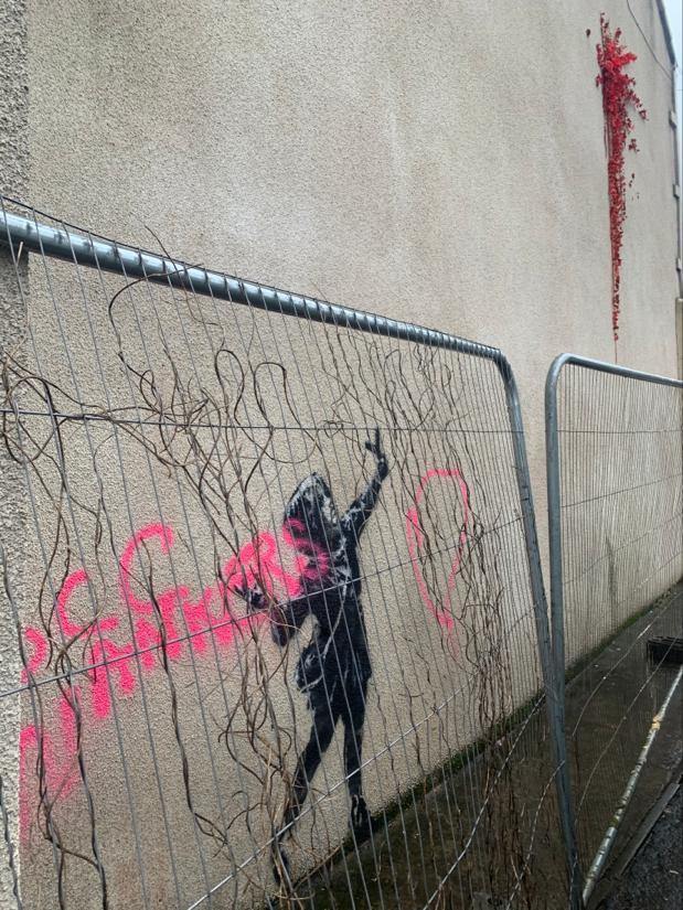 La dernière oeuvre de Bansky à Bristol date de la semaine dernière